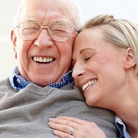 Carelink London Elderly Man and Daughter
